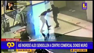 Cámaras de seguridad revelan el ingreso de Alex Gensollen al centro comercial donde perdió la vida