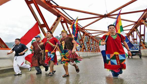 Chasquis del Vraem llegan a Lima para pedir que se forme región