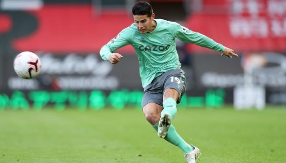 James Rodríguez evidenció molestias durante partido con Southampton. | Foto: REUTERS