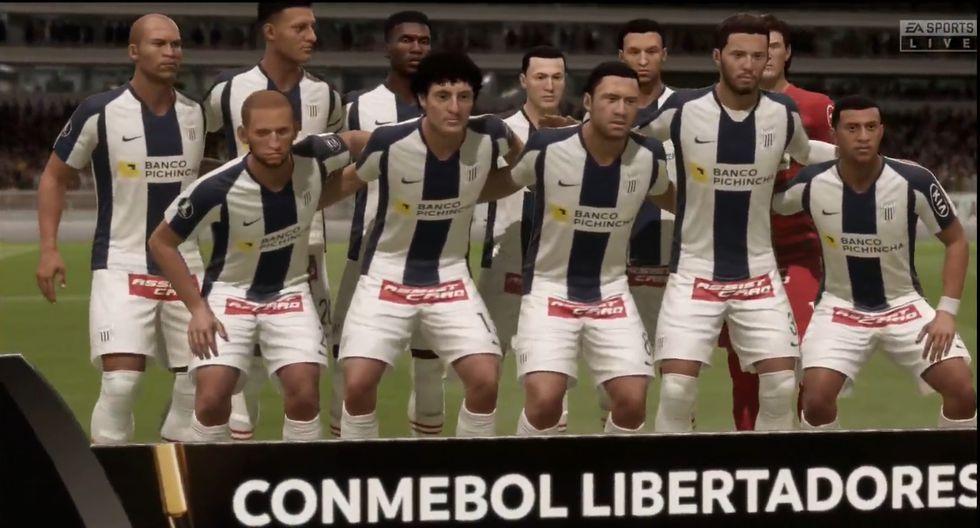 Alianza Lima vs. Nacional simulado en FIFA 20.