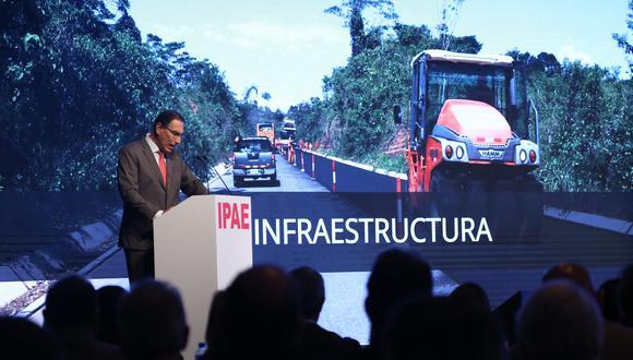 El presidente Martín Vizcarra durante su ponencia en el CADE Ejecutivos 2018. (Foto: IPAE)