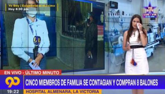 Álvarez pidió disculpas a los televidentes tras derramar unas lágrimas. (Foto: captura de video)