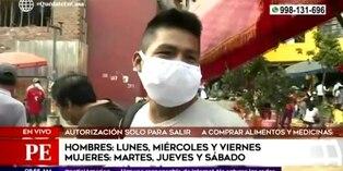 Coronavirus en Perú: varones realizan compras en mercados