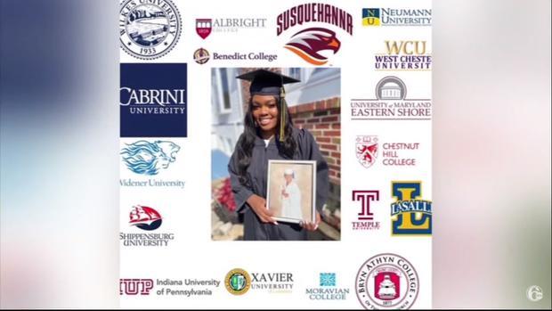 Shanya Robinson-Owens ha sido aceptada en 20 universidades de Estados Unidos. (Foto: Captura 6abc Philadelphia)