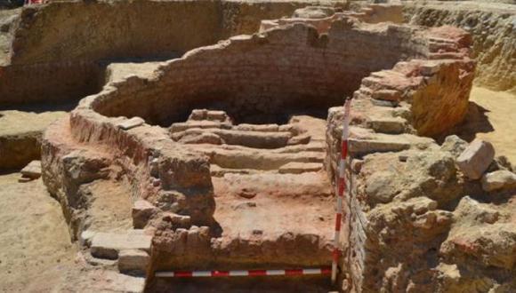 Uno de los hornos hallados en el sitio arqueológico. (Foto: Diario de Huelva)