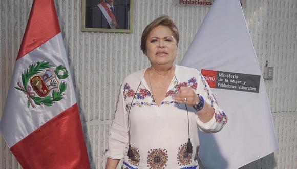 Ministra de la Mujer rechaza expresiones de Manuel Merino (Foto: Ministerio de la Mujer)