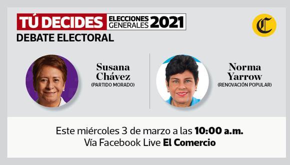 #TúDecides. El Comercio continúa con los debates virtuales entre candidatos al Congreso.