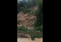 Junín: fuertes lluvias activan quebradas y huaico bloquea carretera Marginal | VIDEO