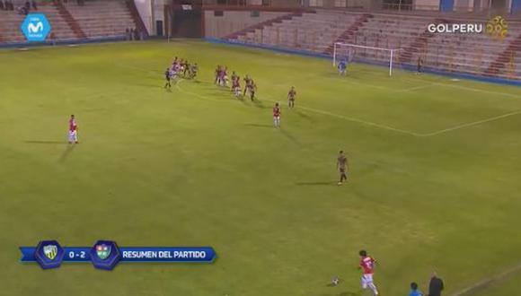 Un golazo de tiro libre desde cerca de 40 metros sorprendió en el duelo entre Sport Rosario y Unión Comercio. Mira el video de YouTube. (Foto: captura)