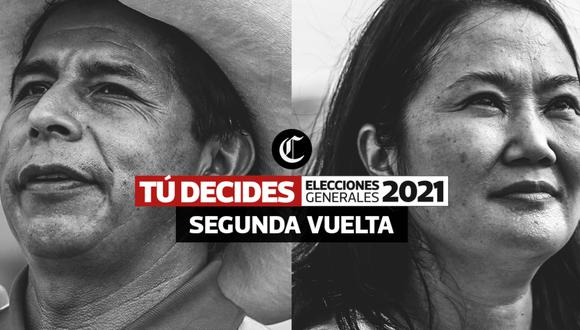 Sigue aquí las elecciones generales de Perú 2021, en vivo y en directo. FOTO: Composición/El Comercio