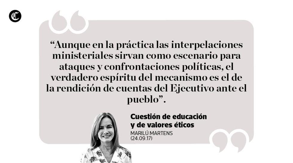 """""""Cuestión de educación y de valores éticos"""", por Marilú Martens."""