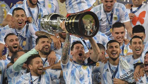Argentina obtuvo el título de la Copa América 2021, tras 28 años de sequía. | Foto: AFP