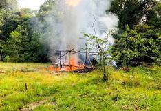 Loreto: destruyen campamento de mineros ilegales que operaban en la cuenca del Río Nanay