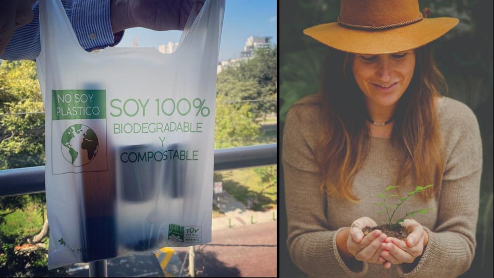 Las bolsas de almidón Ékolo son biodegradables y compostables. (Foto: Difusión)
