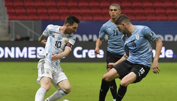 Lionel Messi brindó la asistencia para el gol de Guido Rodríguez en el primer tiempo. (Foto: AFP)