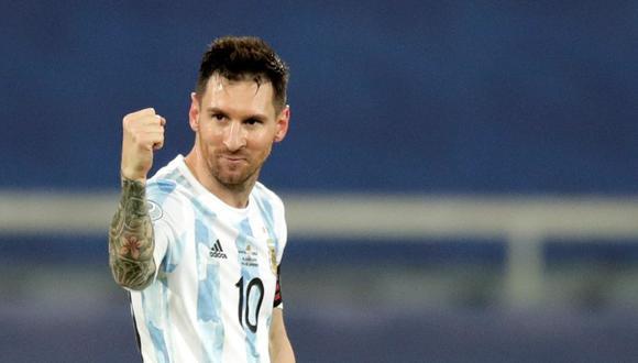 Lionel Messi recibe elogios del 'Maestro' Tabárez. EFE/Andre Coelho