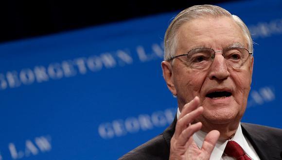 El exvicepresidente de Estados Unidos, Walter Mondale, habla en el Centro de Derecho de la Universidad de Georgetown el 24 de septiembre del 2013. (WIN MCNAMEE / GETTY IMAGES NORTH AMERICA / AFP).