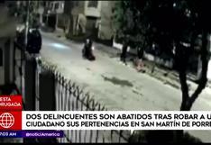 SMP: ciudadano abatió a delincuentes en moto que le robaron sus pertenencias