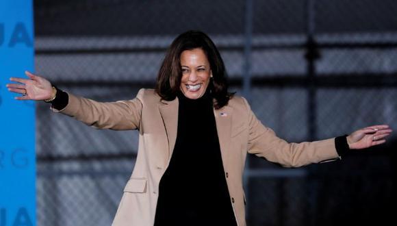 Kamala Harris, la vicepresidente electa, impulsa las campañas de los dos candidatos demócratas en Georgia. (REUTERS/MIKE SEGAR).