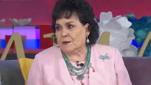 """Carmen Salinas tras perder a su hermano y cuñada a causa de COVID-19: """"Esta maldita enfermedad no respeta a nadie"""". (Foto: Captura Las Estrellas)."""