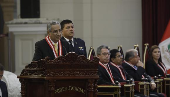José Luis Lecaros encabezó la ceremonia por el Día del Juez. (Foto: Anthony Niño de Guzmán)