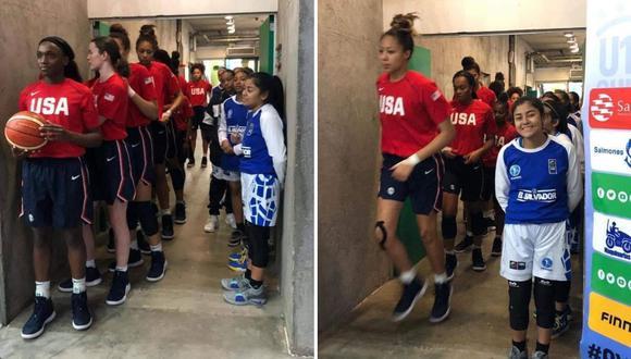 Estas son las imágenes que dejaron en evidencia la diferencia entre ambas escuadras antes del partido. (Foto: FIBA)
