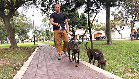 El Colegio Médico Veterinario Departamental de Lima recomienda que solo una persona debe de salir con su mascota o mascotas. (Foto: Andrea Carrión)