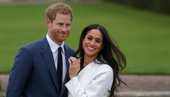 Meghan Markle y el príncipe Harry. (Foto: AFP)