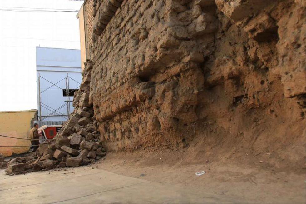 El Agustino: así quedó parte de la Muralla de Lima tras colapso - 1