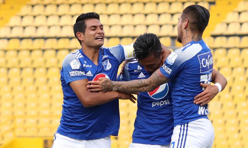 Millonarios venció 3-1 a Deportivo Cali por la Liga Betplay | Foto: @MillosFCoficia