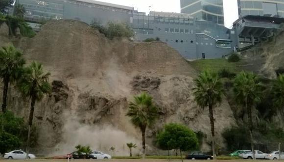 Temblor en Lima: fotografiaron deslizamientos en Costa Verde