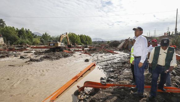 Trabajo de prevención y mitigación se reforzó desde el 9 de febrero, tras los primeros desbordes. (Foto: Presidencia)