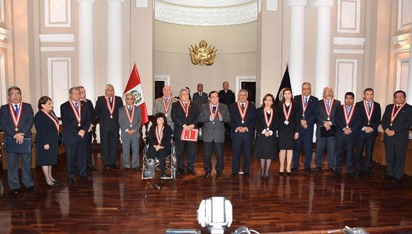 """Sala plena aprobó el documento """"Plan de Cambios Urgentes para el Poder Judicial"""". (Foto: Difusión)"""