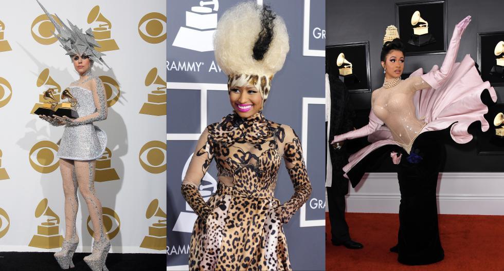 Conoce cuáles fueron los looks más extravagantes de las estrellas que pasaron por la alfombra roja de los Grammys. Recorre la galería para conocer más detalles. (Foto: AFP)