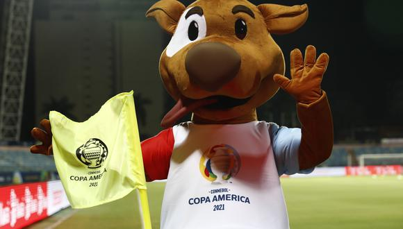 Soccer Football - Copa America 2021 - Group B - Colombia v Peru - Estadio Olimpico, Goiania, Brazil - June 20, 2021 General view of the mascot before the match REUTERS/Diego Vara
