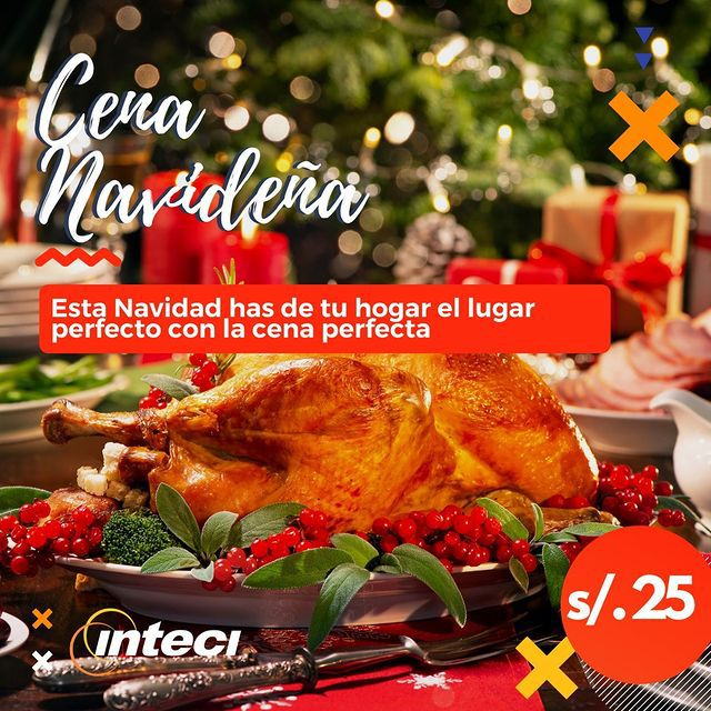 El curso enseñará a elaborar de diferentes maneras la cena navideña. Como parte del contenido del curso, se enseñará a cocinar pavipollo relleno. (Foto: Inteci/Instagram)