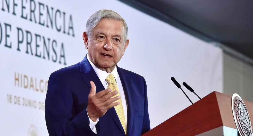 El presidente de México, Andrés Manuel López Obrador (AMLO), se expresa durante una rueda de prensa matutina. (EFE/Presidencia de México).