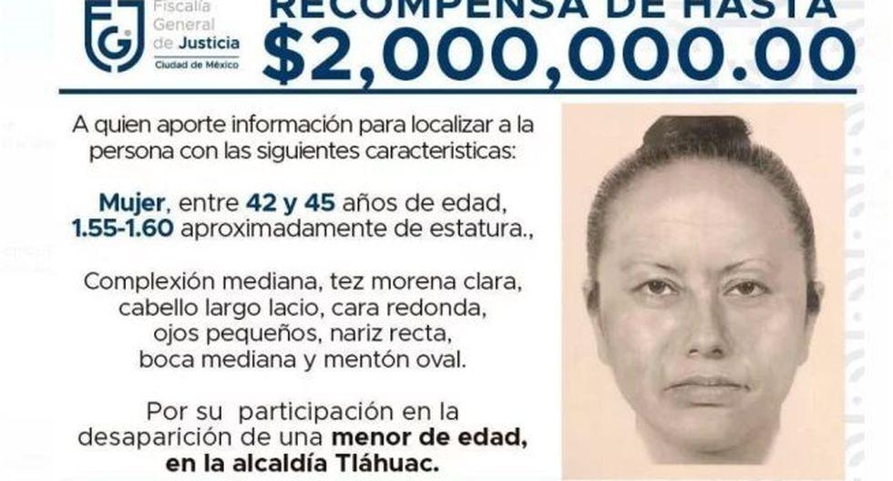 Este es el retrato hablado de la mujer que se llevó de la mano a Fátima, la niña de 7 años que fue hallada muerta en México.