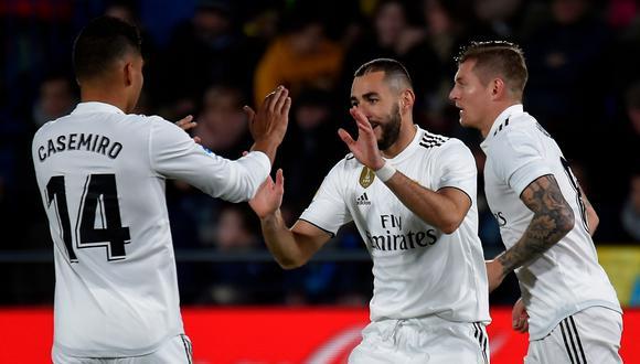 Real Madrid se presenta en este 2019 ante el Villarreal (03:30 pm. / EN VIVO ONLINE) por la jornada 17º de la Liga Española. La 'Casa Blanca' viene de alzar el Mundial de Clubes.   Foto: AFP