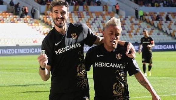 Christian Cueva ha participado en 8 partidos de Yeni Malatyaspor en la Superliga de Turquía. (Foto: Yeni Malatyaspor)