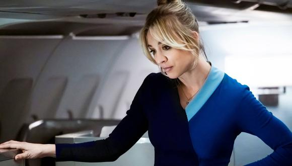 """""""The Flight Attendant"""" es el nombre del último proyecto de la actriz Kaley Cuoco. (Foto: HBO Max)"""
