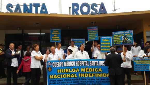 Huelga médica: jefes de servicio hospitalario renunciarían hoy