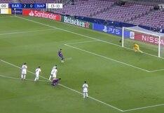 Barcelona vs. Napoli: Luis Suárez convirtió el 3-0 con un gran remate desde el punto penal | VIDEO