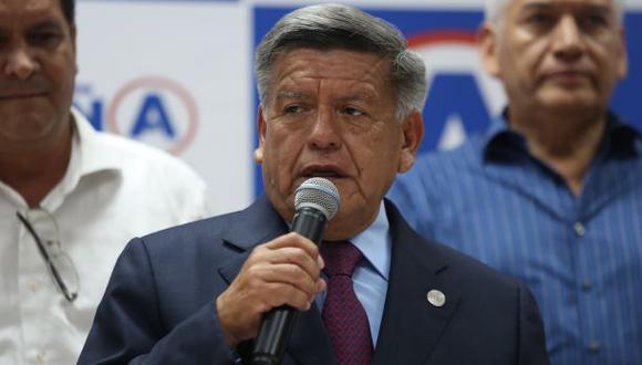 Líder de Alianza para el Progreso dijo que su partido será fiscalizador del nuevo gobierno. (Foto: Archivo El Comercio)