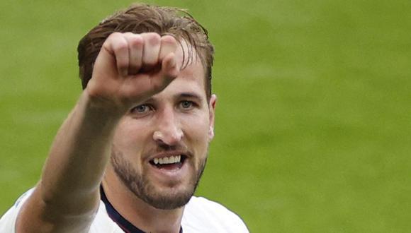 Harry Kane se hizo presente en el marcador. Así, Inglaterra venció por 2-0 a Alemania y clasificó a cuartos de final.   Foto: AFP