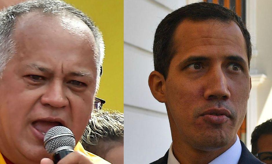 """Venezuela: Diosdado Cabello a Juan Guaidó: """"Usted no ha escuchado el silbido de una bala cerca"""". (AFP)."""