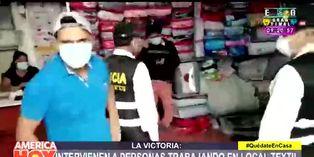 Coronavirus en Perú: intervienen a trabajadores de local textil en La Victoria