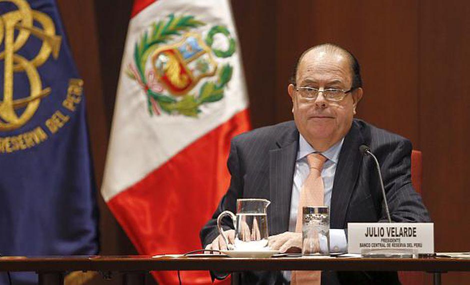 El titular del BCR, Julio Velarde, rechazó los actos de corrupción en el sistema judicial peruano. (Foto: USI)