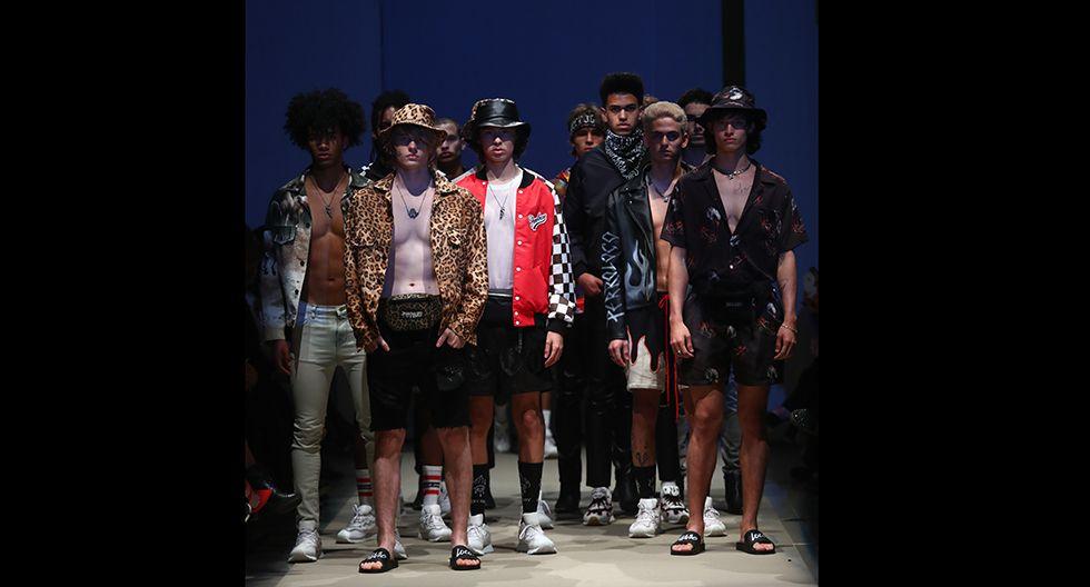 La propuesta, fue de código urbano, cargada de cuero, chaquetas oversized y prendas con estampado animal print. (Foto: Alessandro Currarino)