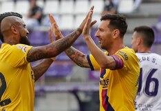 Barcelona vs. Valladolid: genial asistencia de Lionel Messi para el 1-0 marcado por Arturo Vidal